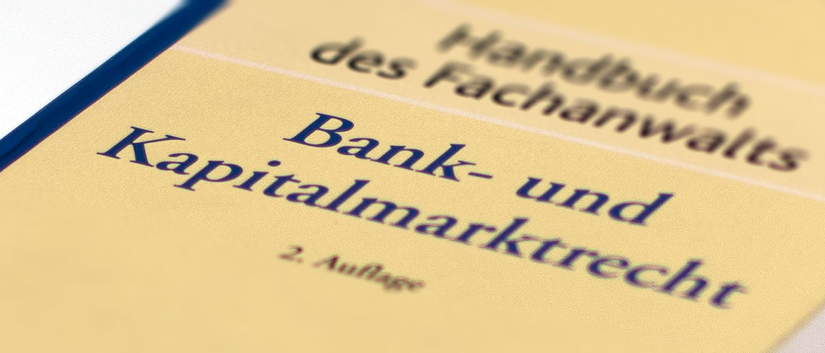 Bankrecht + Kapitalmarktrecht | Fachanwalt Dr. Rösing | Ldkr. Göttingen