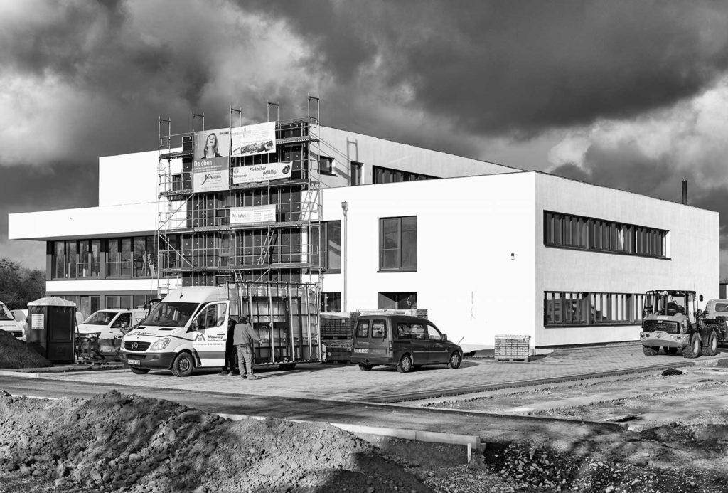 Das Gebäude kurz vor Fertigstellung